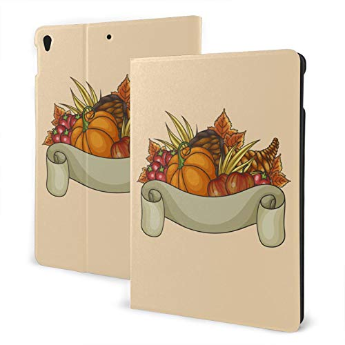 Happy Thanksgiving New Ipad Case Fit 7th Generation/ Air3, Full-Body Trifold with Built-in Screen Protector Protective Smart Cover with Auto Sleep/Wake