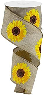 Bold Sunflower On Royal Burlap