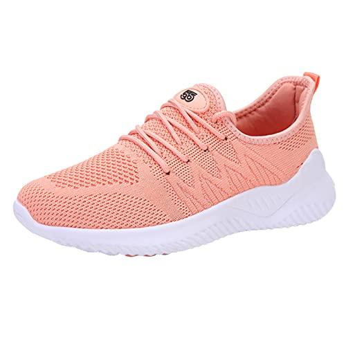 URIBAKY Zapatillas de Esparcimiento Transpirables para Mujeres, Zapatillas de Correr al Aire Acondicionado, Zapatillas de Running Transpirables Deportivas Transpirables Atléticas Cortas, rosa, 39 EU