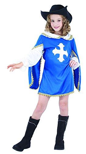 Rire Et Confetti - Fiamou033 - Déguisement pour Enfant - Costume Petite Mousquetaire Bleu - Fille - Taille S