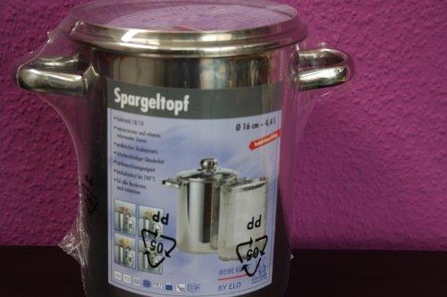 Spargeltopf ELO mit Einsatz - auch für Spaghetti oder Würstchen Topf