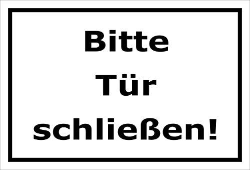 Melis Folienwerkstatt Schild Bitte Tür schließen – 15x20cm, 30x20cm und 45x30cm – Bohrlöcher Aufkleber Hartschaum Aluverbund -S00143A