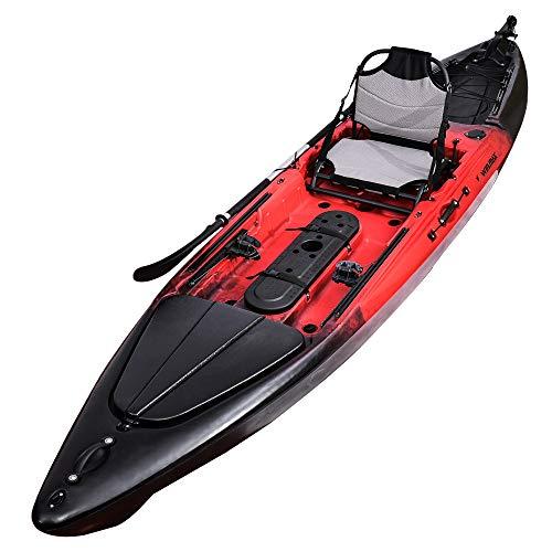 WIN.MAX Winmax Set de Kayak Sit on Top avec pagaie combinée, 395x88x35 cm, Haute stabilité sur...