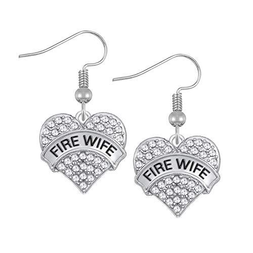Pendientes de diamantes en forma de corazón para mujer, pendientes de borla de aleación de acero inoxidable retro, Navidad, Halloween, regalos de bricolaje, bajo voltaje, hipoalergénicos EH110184