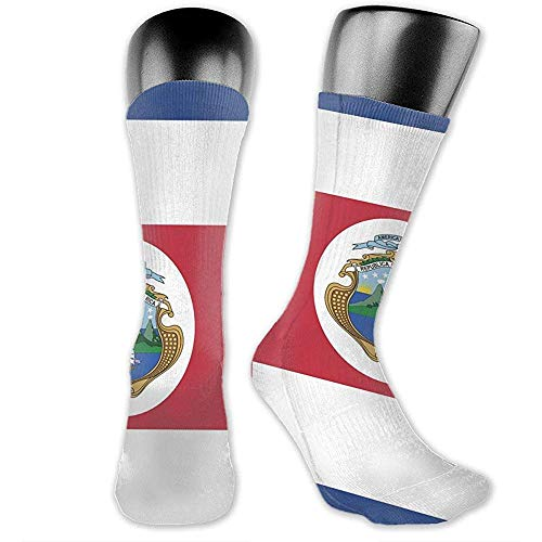 lucies Chaussettes de sport unisexes Costa Rica Flag Wicking Cushion Socks High Ankle Sport Athletic Long Socks Comfort Respirant Socks 40cm
