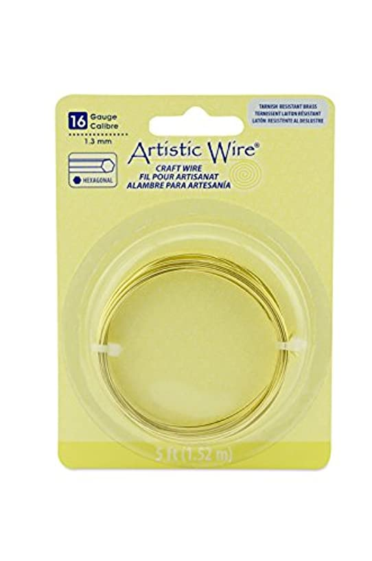 Artistic Wire AWB-16H-NTB-5FT 16 Gauge Hexagonal Wire, 5', Tarnish Resistant Silver