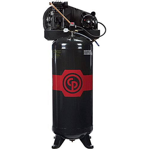 - Chicago Pneumatic Reciprocating Air Compressor - 3.5 HP, 60 Gallon, 208/230 Volt, 1-Phase, Model# RCP3561V