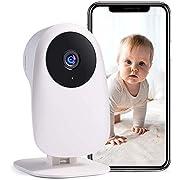 Nooie Babyphone mit Kamera und 2-Wege Audio 2.4G WLAN Kamera 1080P Kompatibel mit Alexa Überwachungskameras Bewegungserkennung mit Nachtsicht und Cloud Service
