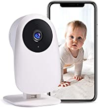 Nooie Baby Monitor with Camera and Audio 1080P Night Vision Motion andSoundDetection 2.4G WiFi Home Security Camera for Baby Nanny Elderly and Pet Monitoring,WorkswithAlexa