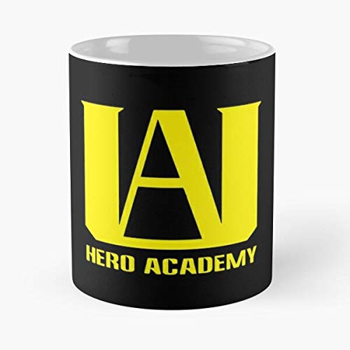 Silvercrowninc Emha Academy Boku Logo No Buko My Academia Hero Best Mug hält Hand 11oz aus weißer Marmorkeramik