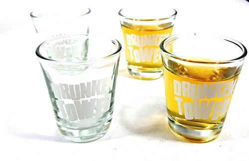 Bambelaa! Trinkspiel Partyspiel Wackelturm Drunken Tower inklusive Vier Trinkgläser ca. 4cl (Englische Version) - 5