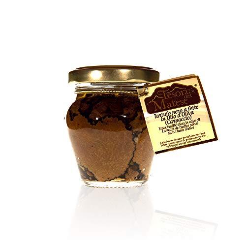 Italienische Schwarze Sommertrüffel Carpaccio aus Nativem Olivenöl Extra | Glutenfrei | 45 g