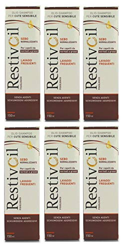 RestivOil Set 6 RestivOil Shampooing Physiologique matières grasses 150 ml – Shampooing Cheveux