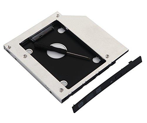 DeYoung SATA 2nd HDD SSD disco duro Caddy Adaptador para Acer Aspire E15E5–573g-3614E5–575G E14E5–411G E5–771G V3–575t-7008