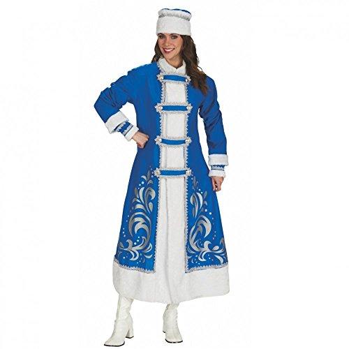 Andrea Moden GmbH Zarin Katharina Disfraz Pelo Folklore Abrigo con Gorro para Carnaval Azul Blanco