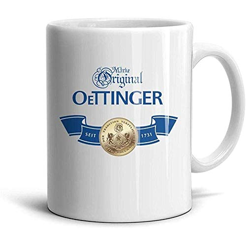 Farting Taza de cerámica blanca Oettinger Beer Coffee Mug 330ML
