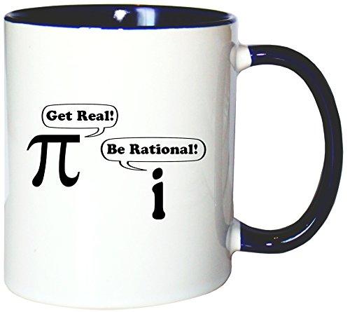 Mister Merchandise Kaffeetasse Becher Get real - Be rational Teetasse