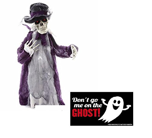 NV Halloween Figur Sensenmann Gentlemen - animiert & Postkarte Don't go me on The Ghost! - Set * ~