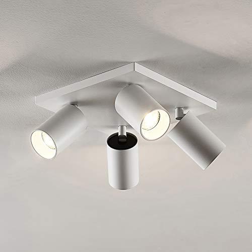 Arcchio Strahler 'Brinja' (Modern) in Weiß aus Metall u.a. für Flur & Treppenhaus (4 flammig, GU10, A+) - Deckenlampe, Deckenleuchte, Lampe, Spot, Flurleuchte