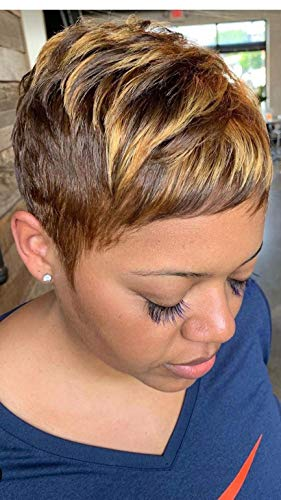 BeiSDWig Short Pixie Haircuts Synthetic Short Wigs for Black Women Short Hairstyles for Women (9622)