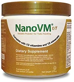 Solace Nutrition NanoVM t/f (275g) Flavorless Powdered Hypoallergenic, Carbohydrate Free Vitamin & Mineral Supplement, Des...