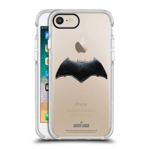 Head Case Designs - Carcasa de gel para Apple iPhone, diseño de Justice League Movie Logos, color blanco