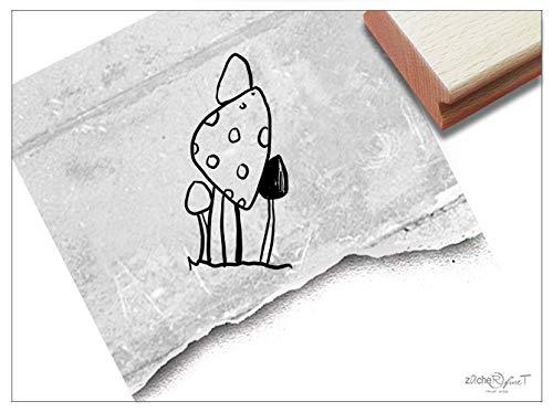 Stempel Motivstempel Pilze - Bildstempel für Basteln Karten Tischdeko Kunst Scrapbook Herbst-Deko Herbstfest Geschenk für Kinder- zAcheR-fineT