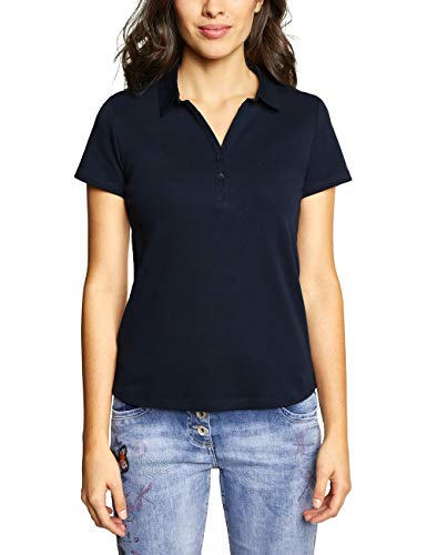 Cecil Damen 313339 Polo Poloshirt, deep Blue, Large