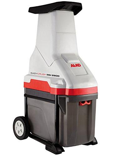 AL-KO Häcksler Easy Crush MH 2800, 2800 W Motorleistung, max. 40 mm Aststärke, 48 Liter Fangbox, kraftvoller Messerhäcksler, großer Einfülltrichter, ergonomischer Griff und stabile Räder für bequemen Transport, inkl. Nachstopfer