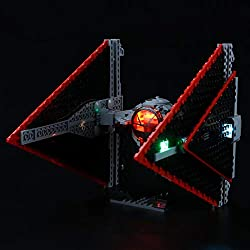 Innovative Design:Designed for Lego 75272,with this light kit, you can bring your Lego Sith TIE Fighter from dark to bright, make it come to life. Brilliant Crafts:On the premise of using safe and reliable materials, using different lights and hiding...