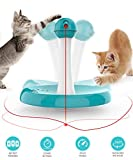 Newest Cat Laser toy,Upgraded Interactive Tumbler Laser Toys for Pet,Automatic Electronic Cats Pets Kitten Chaser Toy with Laser Indoor,4 Speed Modes,3 Timer Settings,Irregular Circle,Safe Material