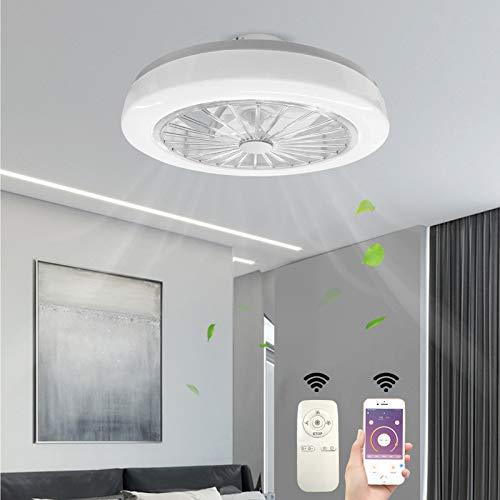 Deckenventilator mit Beleuchtung Fan LED Licht Dimmbar mit Fernbedienung 90W