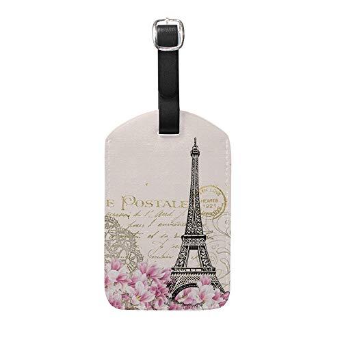 Etiquetas de Cuero para Equipaje de la Torre Eiffel de Chewong, para Mujeres, Hombres, Viajes, Equipaje, Etiquetas, Bolsa de Equipaje, Tarjeta identificativa, 1 Unidad