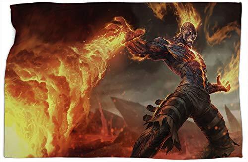 Brand League Legends Manta térmica de algodón con estampado supersuave, cálida y cómoda, mantas y mantas de 127 x 152 cm