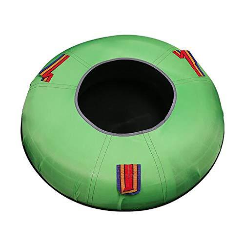 Snow Tube Aufblasbarer Schlitten Kinderski Spielzeug 28 Zoll Runde Traktion aufblasbaren Schneerohr geeignet für Erwachsene und Kinder/grün