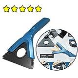 AMhomely 2019 Multifunktional Schneeschaufel Werkzeug, Schnee kratzen runde magische Windschutzscheibe mit Eiskratzer Schneeschaufel Windschild Eiskratzer (Blau)