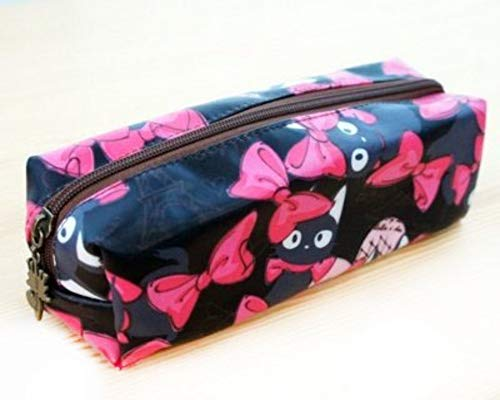 Trousse Rectangulaire (7x21x7cm) imperméable Queen & Cat/s -Chat Fond Noir