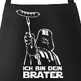 MoonWorks® Grill-Schürze für Männer mit Spruch Ich Bin Dein Brater Baumwoll-Schürze...