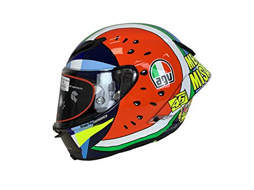 AGV Race Helm Pista GP RR Menü Misano VR46 Motorradhelm Integralhelm Carbon, MS
