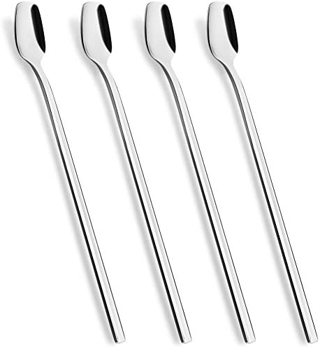 8 Inch Long Handle Iced Teaspoon Stainless Steel Mixing Stirring Square Spoons for Cocktail product image