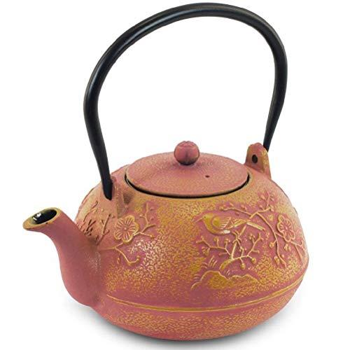 Zen Teekessel rot Teekanne Japanischer 1,2Liter