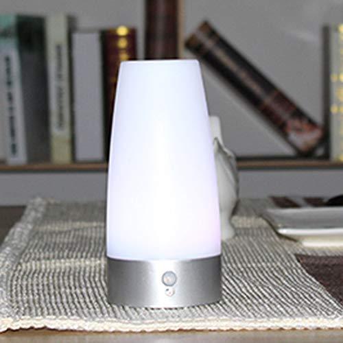 Inicio Led infrarrojo Pir Motion Night Sensor inalámbrico lámpara de mesa alimentado para inodoro cocina dormitorioastilla