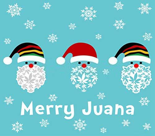 Kit de numeración de pintura de diamante 5D DIY Rasta Santa Clause con hojas de marihuana lindo muñeco de nieve 40,6 x 50,8 cm, adecuado para niños adultos bordado de diamantes completos manualidades