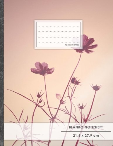 """Blanko Notizbuch • A4-Format, 100+ Seiten, Soft Cover, Register, """"Abenddämmerung"""" • Original #GoodMemos Blank Notebook • Perfekt als Zeichenbuch, Skizzenbuch, Blankobuch, Leeres Tagebuch"""