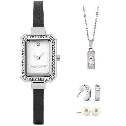 Set de Regalo para señora Pierre Cardin con Cadena, Reloj y Pendiente