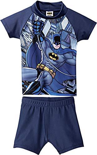 Golden Lutz® Kinder Jungen UV-Schutz-Anzug für Wasser und Strand, Zweiteilig (Batman, Gr. 86/92)
