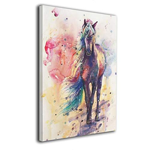 Colla Canvas Wall Art Watercolor Horse Modern Giclee Print Gallery Wrap Home Decor Ready to Hang 12'x16'