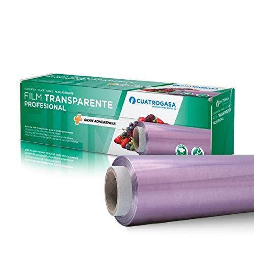 Film transparente alimentario, mayor resistencia y autoadherencia, ideal para la conservación de...