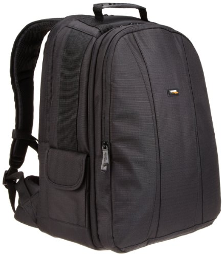 AmazonBasics DSLR Camera and Laptop Backpack Bag (Black Exterior and Gray Interior)