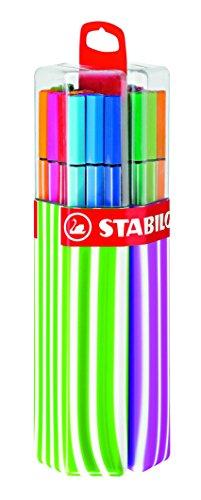 Pennarello Premium - STABILO Pen 68 Twin Pack Rosa/Verde - Astuccio con 20 Coloriassortiti